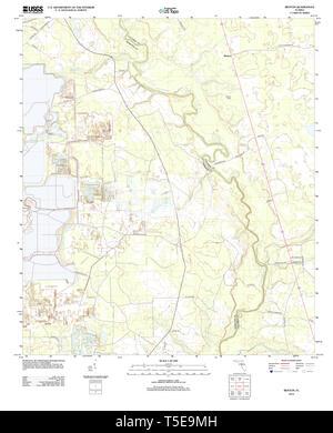 USGS TOPO Map Florida FL Benton 20120821 TM Restoration - Stock Photo