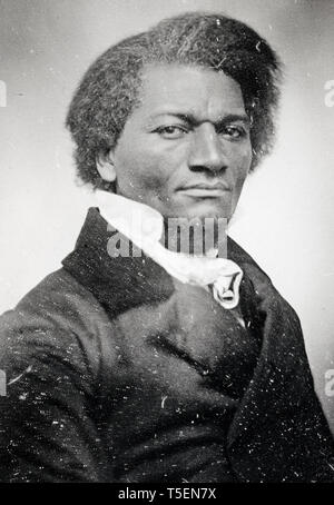 Frederick Douglass (1818-1895), portrait, c. 1855 Daguerreotype - Stock Photo