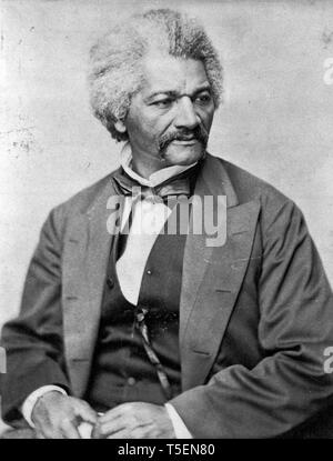 Frederick Douglass (1818-1895), portrait, c. 1850 - Stock Photo
