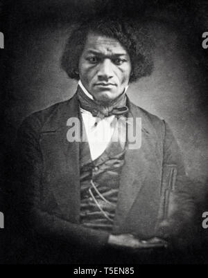 Frederick Douglass (1818-1895), portrait, daguerreotype, c. 1850 - Stock Photo
