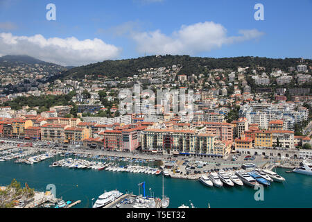 Port Lympia, Harbor, Nice, Cote d Azur, Alpes Maritimes, Provence, French Riviera, France, Europe - Stock Photo
