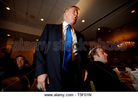 Real Estater and TV Entertainer Donald J. Trump is flirting with the idea of running for President in the 2012 Election. Wednesday he made an important visit with the Nashua Chamber of Commerce in New Hampshire. - Stock Photo
