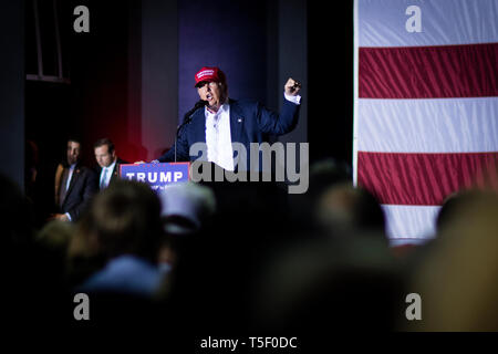 Presidential hopeful Donald Trump (R-NY) holds a final rally in South Boca ahead of the Florida Primaries. - Stock Photo