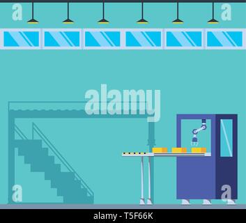 technified factory scene icon vector illustration design - Stock Photo