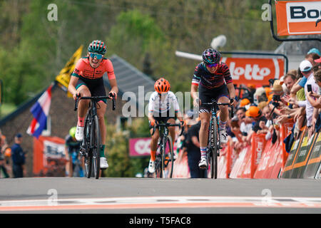 24 april 2019 Huy, Belgium Cycling La Fleche Wallone     Demi Vollering - Stock Photo