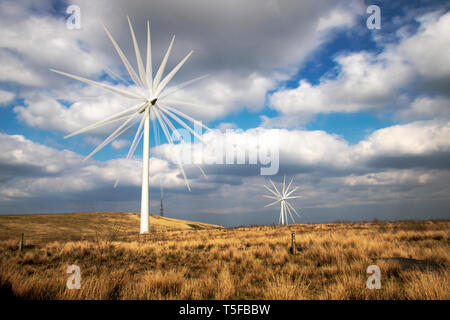 Whitelee Windfarm Visitor Centre Scotland - Stock Photo