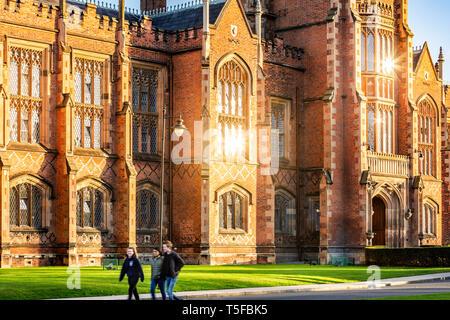 Queen's University, Belfast Northern Ireland - Stock Photo