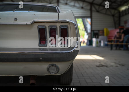 BERLIN - MAY 05; 2018: Rear of pony car Ford Mustang Coupe; 1965. - Stock Photo