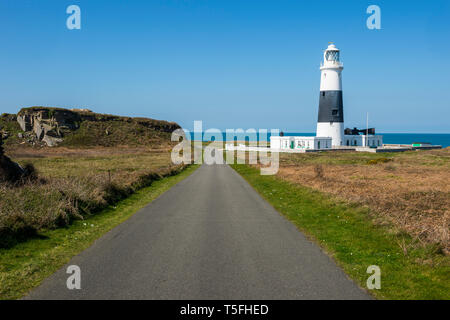 United Kingdom, Channel Islands, Alderney, Mannez Lighthouse - Stock Photo