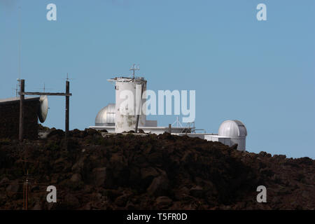 The Haleakala observatory on Maui is a large facility with ten different astronomical systems with plans for more in the future. - Stock Photo