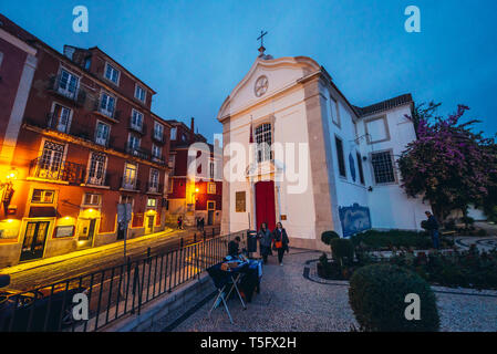 Igreja de Santa Luzia church in Lisbon city, Portugal - Stock Photo