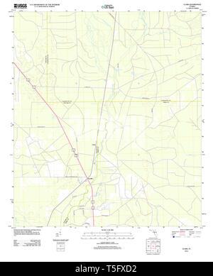 USGS TOPO Map Florida FL Clara 20120808 TM Restoration - Stock Photo