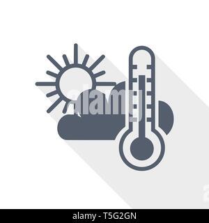 Weather forecast, climate icon, flat design vector illustration - Stock Photo