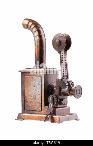 First film projector - isolated on a white background. - Stock Photo