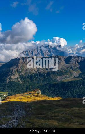 Italy, Veneto, Dolomites, San Pellegrino Pass - Stock Photo