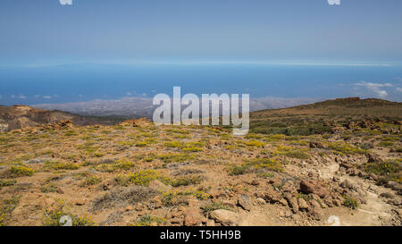 View from the Guajara of the south of Tenerife, Canary islands, Spain. - Stock Photo