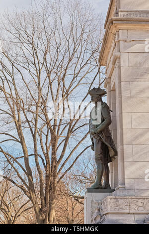 John Paul Jones Memorial in Washington DC - Stock Photo