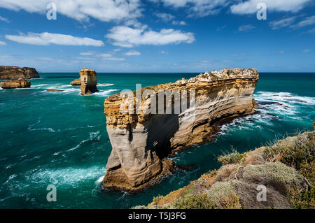 The Razorback is one of many features in Port Campbell National Park. - Stock Photo