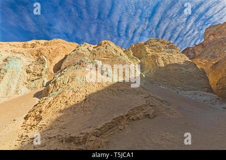 Zebra clouds over Desolation Canyon. - Stock Photo