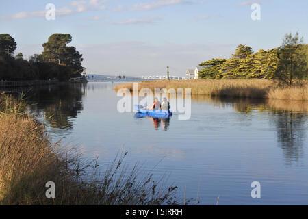 Landscape view of Erskine river in Lorne Victoria Australia - Stock Photo