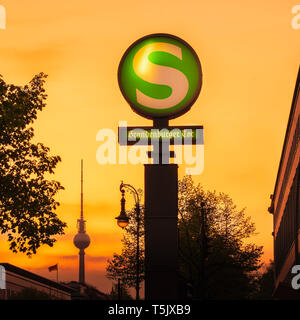 S-Bahn Brandenburger Tor, Berlin. - Stock Photo