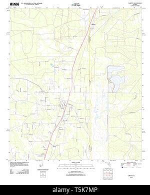 USGS TOPO Map Florida FL Lawtey 20120821 TM Restoration - Stock Photo