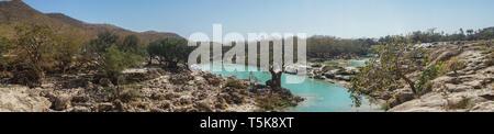 Wadi Darbat, Dhorfar region, Oman - Stock Photo