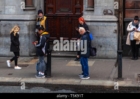 Dublin, Ireland – March 2019. Streets and buildings of historical city Dublin - Stock Photo
