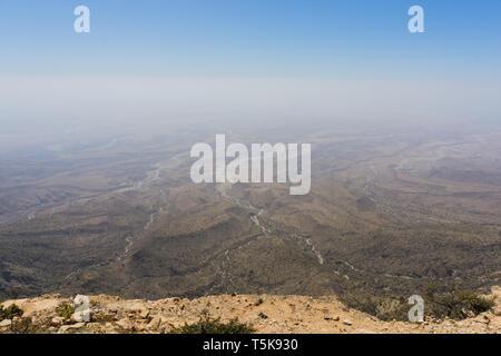 Jabal Samhan viewpoint, Dhorfar, Oman - Stock Photo