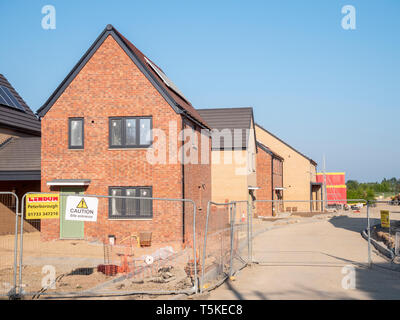 New houses being built on a small housing estate in Willingham Cambridgeshire UK - Stock Photo
