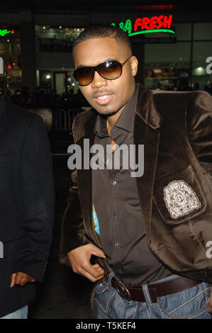 LOS ANGELES, CA. December 06, 2006: NAS at the Los Angeles premiere of 'Blood Diamond' at Grauman's Chinese Theatre, Hollywood. Picture: Paul Smith / Featureflash - Stock Photo