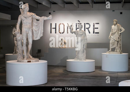 Le Louvre Lens : Temporary exhibition about Homer - Stock Photo