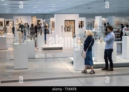 Le Louvre Lens : Architects SANAA. Galerie du Temps - Stock Photo