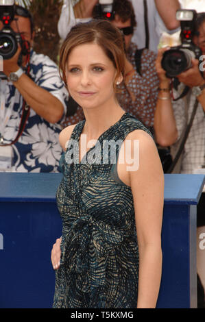 CANNES, FRANCE. May 21, 2006: Actress SARAH MICHELLE GELLAR at the photocall for 'Southland Tales' at the 59th Annual International Film Festival de Cannes. © 2006 Paul Smith / Featureflash - Stock Photo