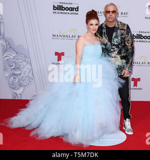 LAS VEGAS, NEVADA, USA - APRIL 25: Wisin arrives at the 2019 Billboard Latin Music Awards held at the Mandalay Bay Events Center on April 25, 2019 in Las Vegas, Nevada, United States. (Photo by Xavier Collin/Image Press Agency) - Stock Photo