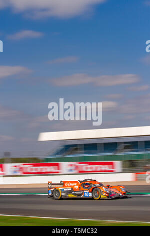 G-Drive LMP2 race car on track at the ELMS 4 Hours of Silverstone, 2018 - Stock Photo