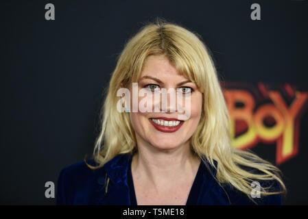 'Hellboy' special screening, New York, USA - 09 Apr 2019 - Meredith Ostrom - Stock Photo