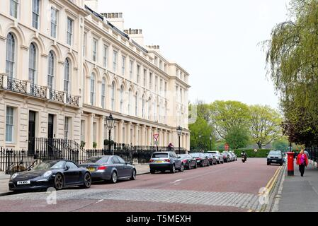 Houses on Park Square West , Regents Park London England UK - Stock Photo