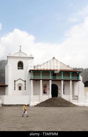 St James the Apostle church, Santiago Atitlan, Guatemala, Central America - Stock Photo