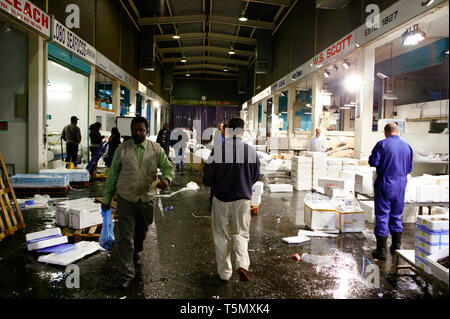 The fish section of the Birmingham Wholesale Market. 12/10/2007 - Stock Photo