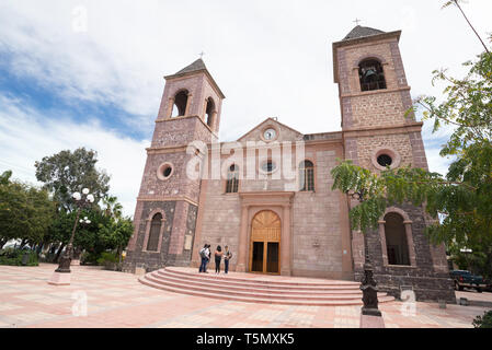 Our Lady of Peace Cathedral in La Paz, Baja California Sur, Mexico. - Stock Photo