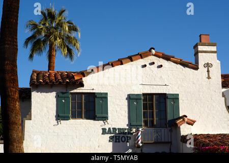 Spanish style building in the historic La Plaza district of Palm Spring, California USA - Stock Photo