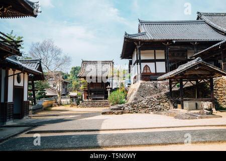 Ehime, Shikoku, Japan - April 22, 2019 : Kosho-ji temple at Uchiko town - Stock Photo