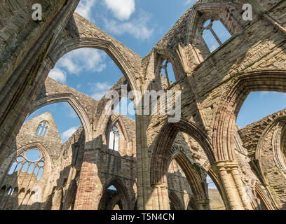 The restored ruins of Tintern Abbey, Monmouthshire, Wales, UK