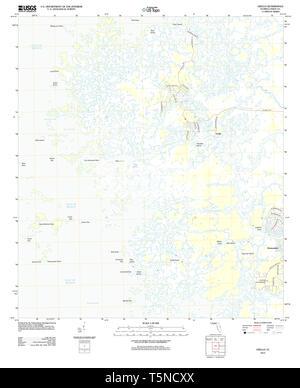 USGS TOPO Map Florida FL Ozello 20120813 TM Restoration - Stock Photo