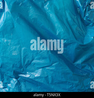 Crumpled plastic bag texture, plastic waste for recycled