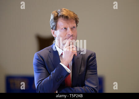 Brexit Party Chairman Richard Tice speaking at a rally held at Albert Hall Conference Centre, Nottingham. - Stock Photo