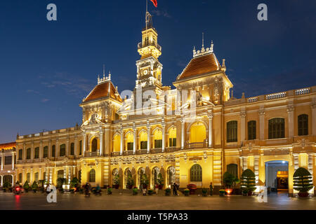 Hotel de Ville (city hall), a neo-baroque styled French styled building (1901 - 1908) now used as the offices for the Peoples Committee, situated at t