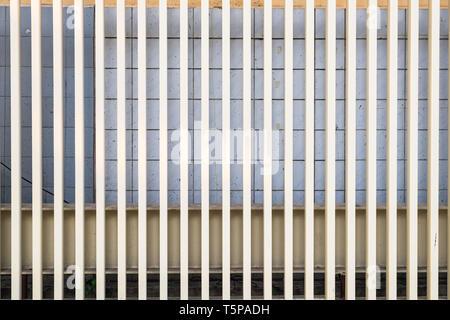 steel battens design decorate prominent pattern - Stock Photo