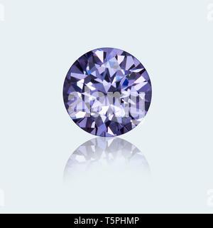 Amethyst, Amethyst gemstone, Round cut Amethyst, Round cut Amethyst Gemstone, Round cut Gemstone - Stock Photo